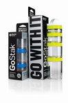 BlenderBottle ™ GOSTAK Zwart - Starter 4Pak opbergbakjes - 40ml/60ml/100ml/150ml