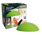 Schildkrot ™ Fitness - Dynamische Halve Bal  met mini pompje - Hoogte 16,5 cm - Groen