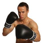 FitnessMAD ™ - Bokshandschoen - Leder - Paar- 8 oz - Zwart/Wit