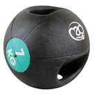 FitnessMAD™-Double-Grip-Medicine-Bal-7-Kg-Donkergroen