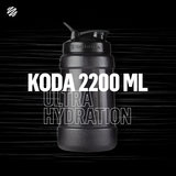BLENDERBOTTLE | KODA voor water - Zwart 2.2 liter | Bidon. Mooi ontworpen waterfles die alle kwaliteiten heeft van de BlenderBottle familie. Zonder Blenderball. _