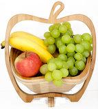 ZIELONKA ™ Fruitkorf 100% bamboe ca.27 x 23 x 30 cm_