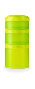 BlenderBottle ™ EXPANSION PAK Groen - 3 Opbergbakjes voor Pro Stak - Full Colour - 100ml/150ml/250ml