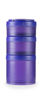 BlenderBottle ™ EXPANSION PAK Paars - 3 Opbergbakjes voor Pro Stak - Full Colour - 100ml/150ml/250ml