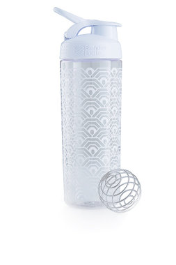 BlenderBottle ™ SIGNATURE SLEEK Wit Clamshell met oog  - Eiwitshaker/Bidon - 820 ml