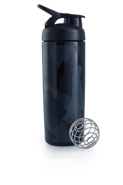 BlenderBottle ™ SIGNATURE SLEEK Zwart Shattered Slate met oog - Eiwitshaker/Bidon - 820 ml