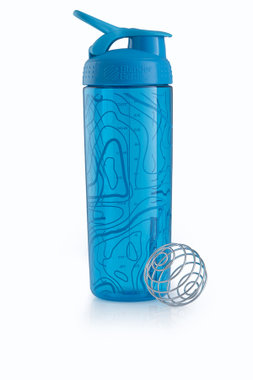 BlenderBottle ™ SIGNATURE SLEEK Aqua Topt Flow met oog - Eiwitshaker/Bidon - 820 ml