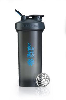 BlenderBottle ™ PRO45 Zwart met blauwe opdruk en oog - Eiwitshaker/Bidon - 1,3 Liter