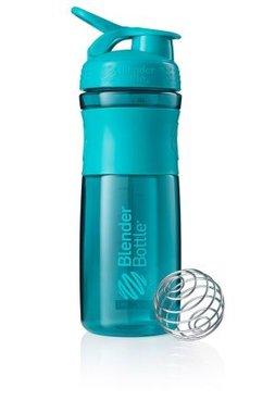 BlenderBottle ™ SPORTMIXER Big Azuurblauw/Teal met oog - Eiwitshaker / Bidon  - 820 ml