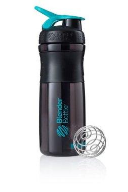 BlenderBottle ™ SPORTMIXER Big Zwart/Azuurblauw/Teal met oog - Eiwitshaker / Bidon  - 820 ml