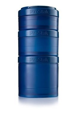 BlenderBottle ™ EXPANSION PAK Navyblauw - 3 Opbergbakjes voor Pro Stak - Full Colour - 100ml/150ml/250ml