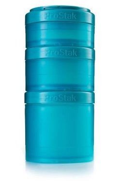 BlenderBottle ™ EXPANSION PAK Azuurblauw/Teal - 3 Opbergbakjes voor Pro Stak - Full Colour - 100ml/150ml/250ml