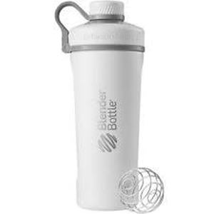 BlenderBottle ™ RADIAN RVS Wit - Eiwitshaker/Bidon - 770 ml