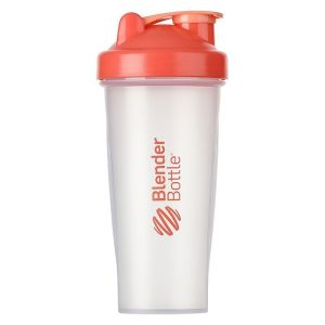 BlenderBottle ™ CLASSIC Big Koraalrood Transparant - Eiwitshaker / Bidon  - 820 ml