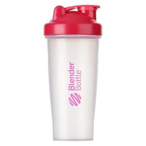 BlenderBottle ™ CLASSIC Big Fashion Roze Transparant - Eiwitshaker / Bidon  - 820 ml