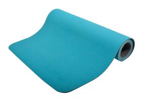 Schildkrot ™ Fitness  - Yogamat - Afmetingen 180 cm x 61 cm x 4 mm - TPE- Blauw/Grijs
