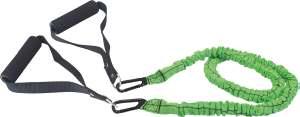 Schildkrot ™ Fitness - Expander - Lengte 120 cm - Groen/Zwart