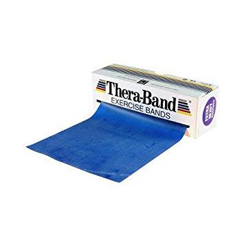 Theraband 5,5 meter rol in de kleur BLAUW (Zeer Zware weerstand)