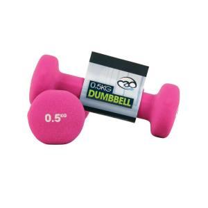 FitnessMAD ™ - 0.5 KG Neoprene Dumbbells - Pink