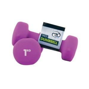 FitnessMAD ™ - 1.0 KG Neoprene Dumbbells - Purp