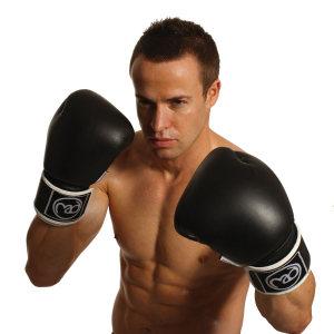 FitnessMAD ™ - Bokshandschoen - Leder - Paar- 10 oz - Zwart/Wit