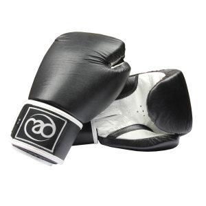FitnessMAD ™ - Bokshandschoen - Leder - Paar- 12 oz - Zwart/Wit