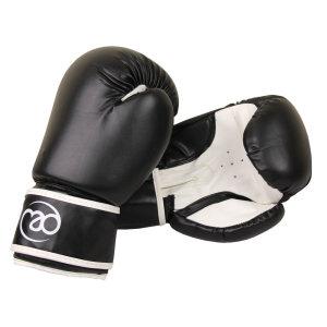 FitnessMAD ™ - Bokshandschoen - Kunstleder - Paar- 14 oz - Zwart/Wit