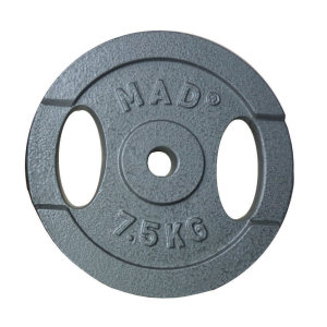 FitnessMAD ™ - 7.5 KG Weight Plate - haltersschijf, 25.4 mm / 1 inch ø
