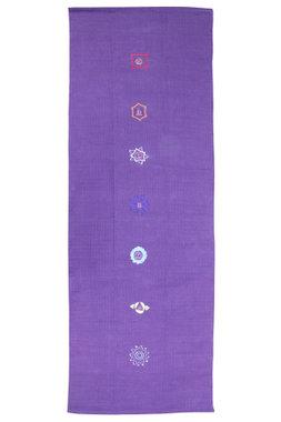 FitnessMAD ™ - 100% katoen Yoga deken - vloerkleed. Met 7 Chakras motief