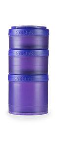 BlenderBottle ™ EXPANSION PAK Paars - 3 Opbergbakjes voor Pro Stak - Full Colour - 100ml/150ml/250ml