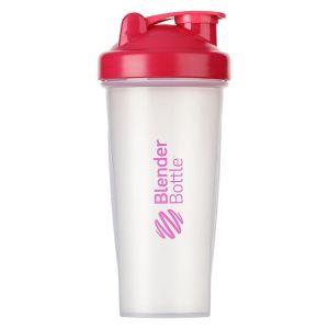 BlenderBottle ™ CLASSIC Big Fashion Roze Transparant - Eiwitshaker / Bidon  - 820 ml
