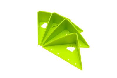 ZIELONKA ™ Antiglijhoekjes voor in de auto. Set van 4. Groen  4 er Set Auto /  Transport Grün